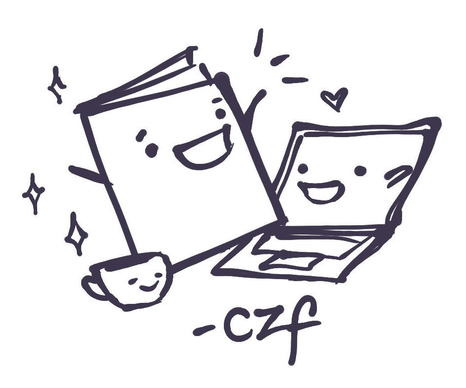 Cutie computer and zine illustration